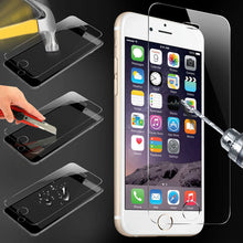 sampurchase  9H tempered glass For iphone X 8 4s 5 5s 5c SE 6 6s plus 7 plus screen protector protective guard film case cover+clean kits