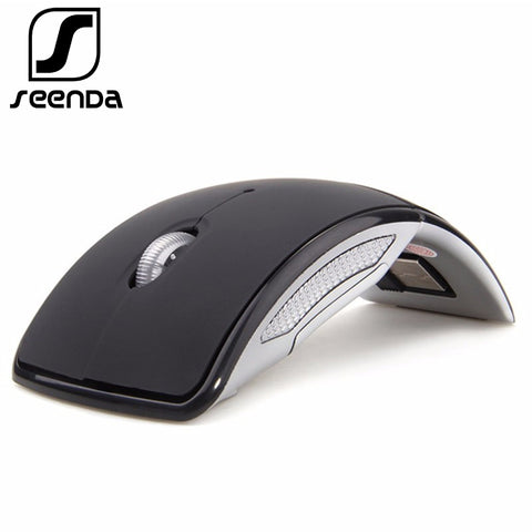 sampurchase SeenDa Wireless Mouse 2.4G Computer Mouse Foldable Travel Notebook Mute Mouse Mini Mice USB Nano Receiver for Laptop PC Desktop