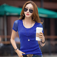 sampurchase Brand Slim Short Sleeve T shirt Women Summer 2018 Casual Female T-shirt Ladies Tops Tees O-Neck Bottoming Tshirt High Quality