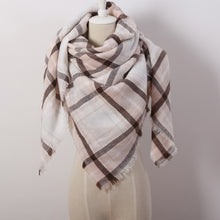 SAMPURCHASE Winter Triangle Scarf Shawl Cashmere Plaid Scarves Blanket