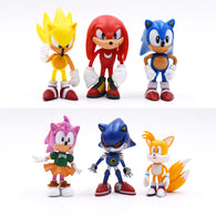 sampurchase 6Pcs/Set 7cm Sonic Figures Toy Pvc Toy Sonic Shadow Tails Characters Figure Toys For Children Animals Toys Set Free Shipping
