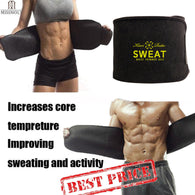 sampurchase Premium Waist Trainer & Trimmer Sweat Belt For Men & Women Fitness Shapewear Wrap Tummy Stomach Weight Loss Fat Burner Slimming