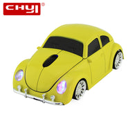 sampurchase CHYI Wireless Computer Mouse Cool Beetle Car Shape Mice 1600DPI Optical Gaming Mause With USB Receiver For PC Laptop Desktop