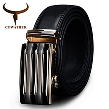 SAMPURCHASE COWATHER Good mens belt luxury high quality cow genuine leather belts for men automatic buckle fashion waist