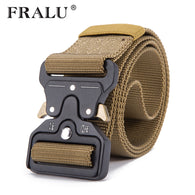 sampurchase FRALU  Hot Mens Tactical Belt Military Nylon Belt Outdoor multifunctional Training Belt High Quality Strap ceintures width 3.8