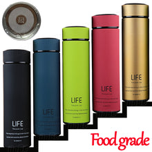 sampurchase  Insulate Thermos tea mug with Strainer Thermo mug Thermos Coffee cup Stainles steel thermal bottle Termos Thermocup Vacuum flask