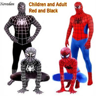 SAMPURCHASE Red Black Spider-Man Cosplay Adults Kids