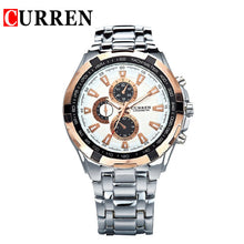 sampurchase Curren Military Sport Mens Watches Top Brand Luxury Stainless Steel Quartz Men Watch Male Fashion Casual Clock Relogio Masculino