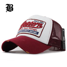 sampurchase [FLB] Summer Baseball Cap Embroidery Mesh Cap Hats For Men Women Gorras Hombre hats Casual Hip Hop Caps Dad Casquette F207