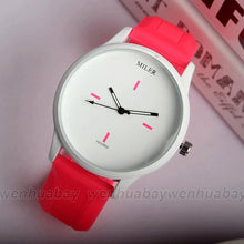 sampurchase Simple Creative Silicone Women Men Quartz Watches Minimalist Dress  Watch  Reloj Mujer Casual Relogio Feminino