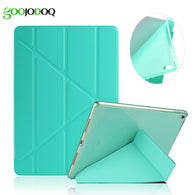 sampurchase For iPad Air 2 Air 1 Case with Silicone Glitter Soft Back Smart Cover for iPad Mini 1 2 3 PU Leather Transformers Tablet Case