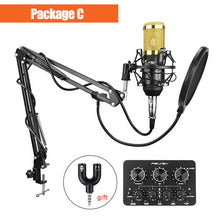 sampurchase FELYBY bm 800 Professional condenser microphone for computer audio studio vocal Rrecording karaoke Mic Phantom power Sound card