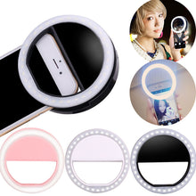 sampurchase ET Universal Phone Selfie LED Flash Light Universal Mobile Phone Selfie Luminous Ring Clip Lens For iPhone Samsung Xiaomi Huawei