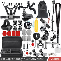 sampurchase Vamson For Gopro Accessories Set for Eken H9R For Gopro Hero 6 5 4S Mount Selfie stick Tripod For Yi 4K for Mijia Kit VP104F