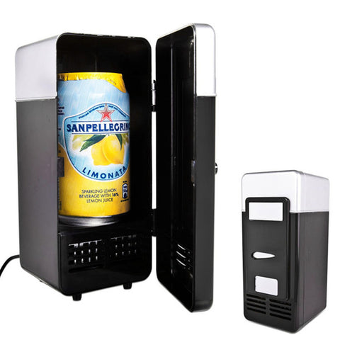 SAMPURCHASE 2 In 1 Mini USB Refrigerators Portable Beverage