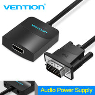 sampurchase Vention VGA to HDMI Converter Adapter Cable 1080P Analog to Digital Video Audio Converter for PC Laptop to HDTV Projector