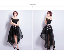 sampurchase SOCCI WEEKEND Little Black Dresses Organza Grey Evening Dresses Elegant lady Appliques Flowers dress sexy Black Lace Party Gowns