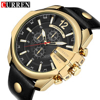 sampurchase CURREN Men's Sports Quartz Watch Men Top Brand Luxury Designer Watch Man Quartz Gold