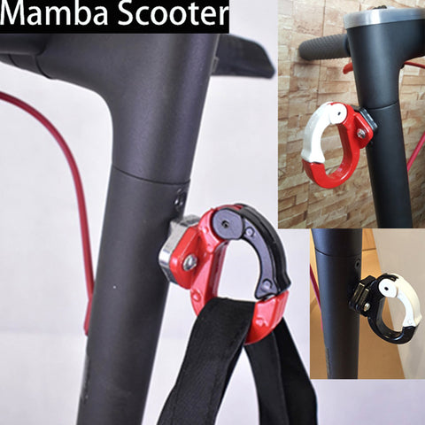 sampurchase Xiaomi Mijia M365 Electric Scooter Front Hook Hanger Helmet Bags Claw DIY Gadget Skateboard Tools Bottle Luggage Cargo Carrier