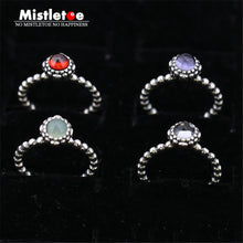 sampurchase Original jewelry Birthday Blooms Charm Compatible With European Jewelry Rings December  For Women Month Crystal Stone