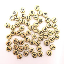 sampurchase NEW 1000Pcs Russian Alphabet Letter Beads Acrylic Beads Spacer Beads For Jewelry Making Handmade DIY Crafts 3Colors 7X4mm Whsle