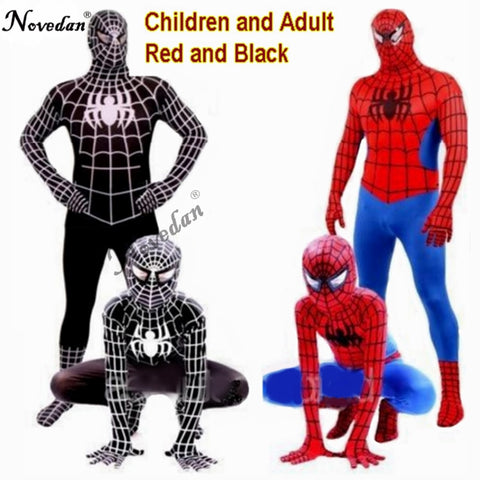 SAMPURCHASE Red Black Spiderman Costume Spider Man Suit