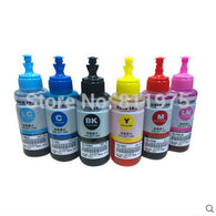 sampurchase Dye ink  Based Non OEM  6 color Refill Ink Kit 70ml for Epson L800 L801 printing ink Cartridge No. T6731/2/3/4/5/6