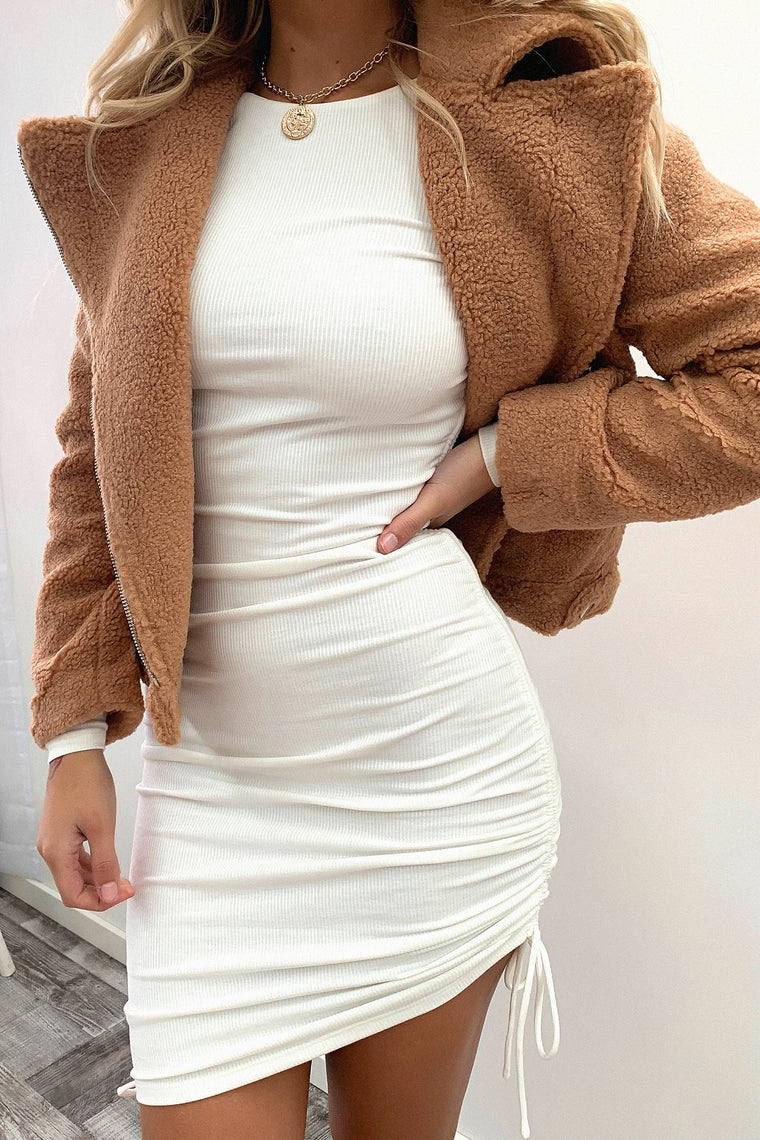 Demelza Teddy Jacket - Tan