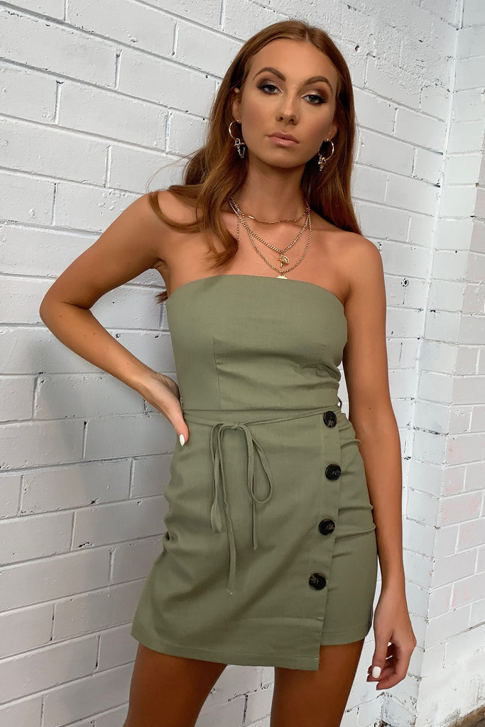 Mary-Anna Dress - Khaki