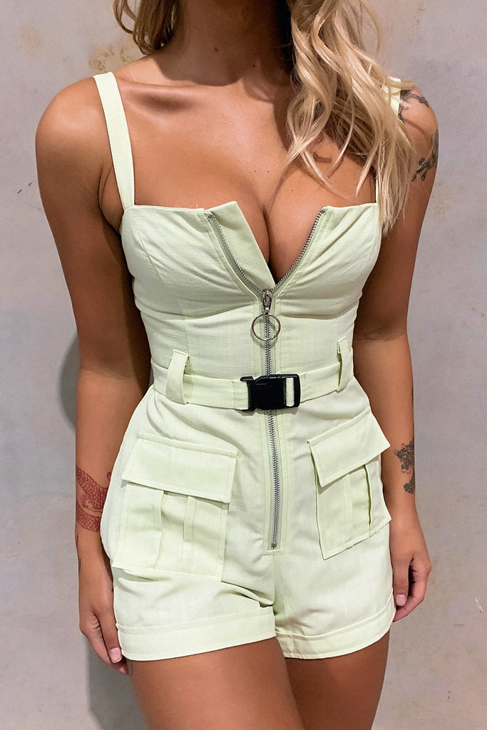 Virtue Playsuit - Light Green