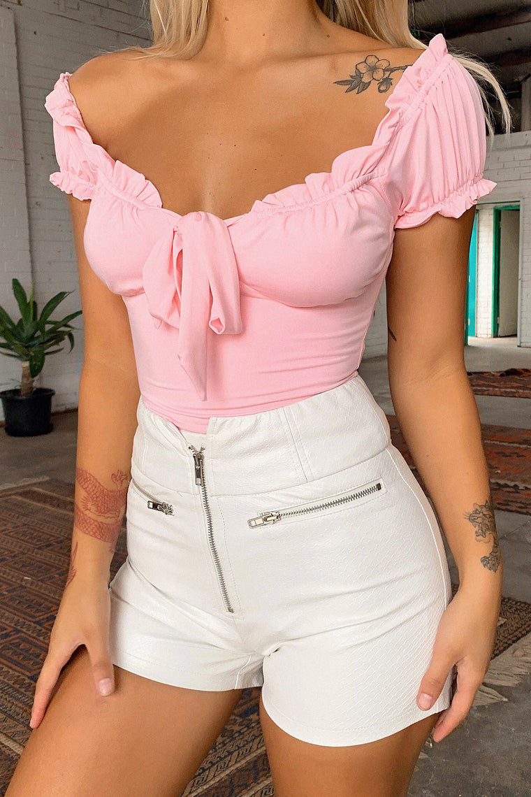 *Pre-Order* Finley Bodysuit - Baby Pink *Shipping Late June*