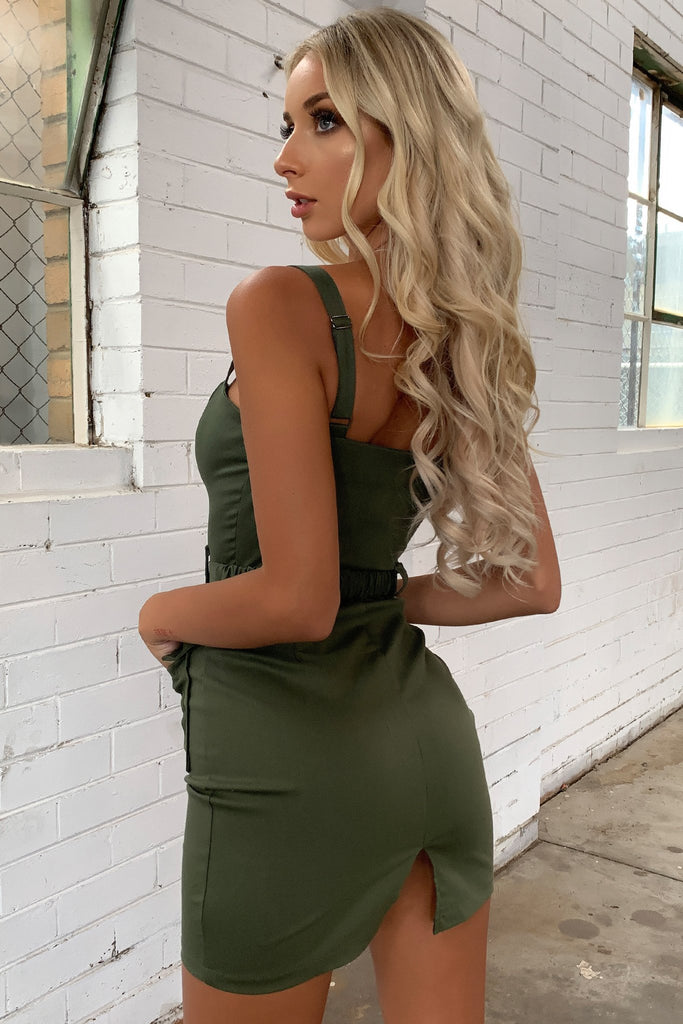 Virtue Dress - Khaki