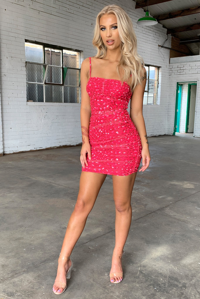 Spencer Dress - Hot Pink