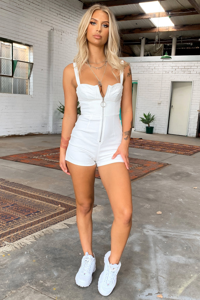 Prism Playsuit - White