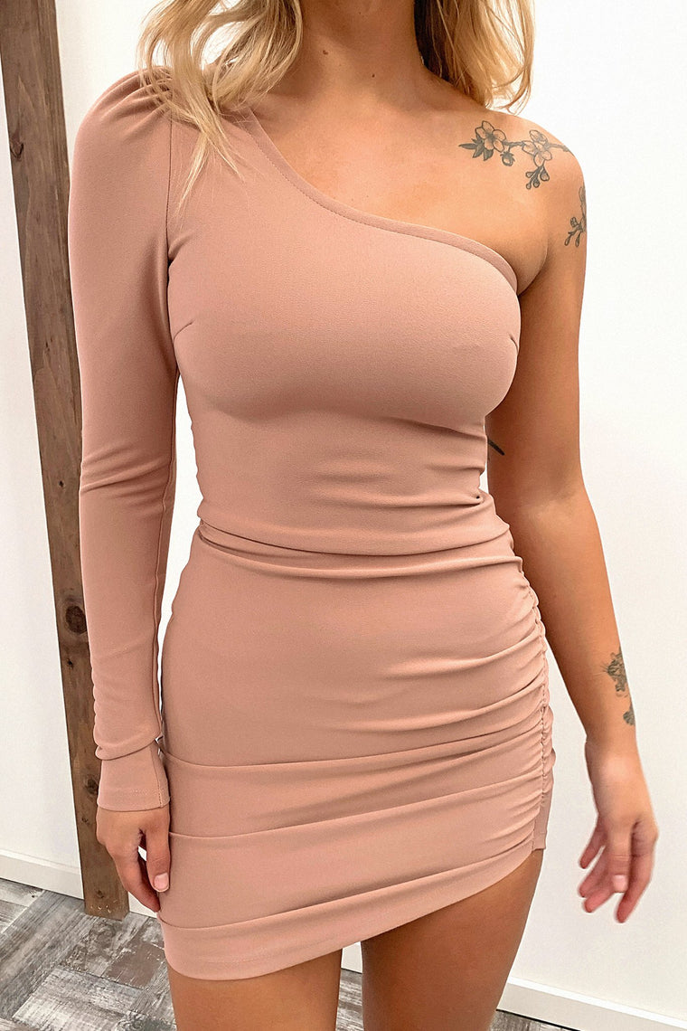 Tayline Dress - Dark Blush