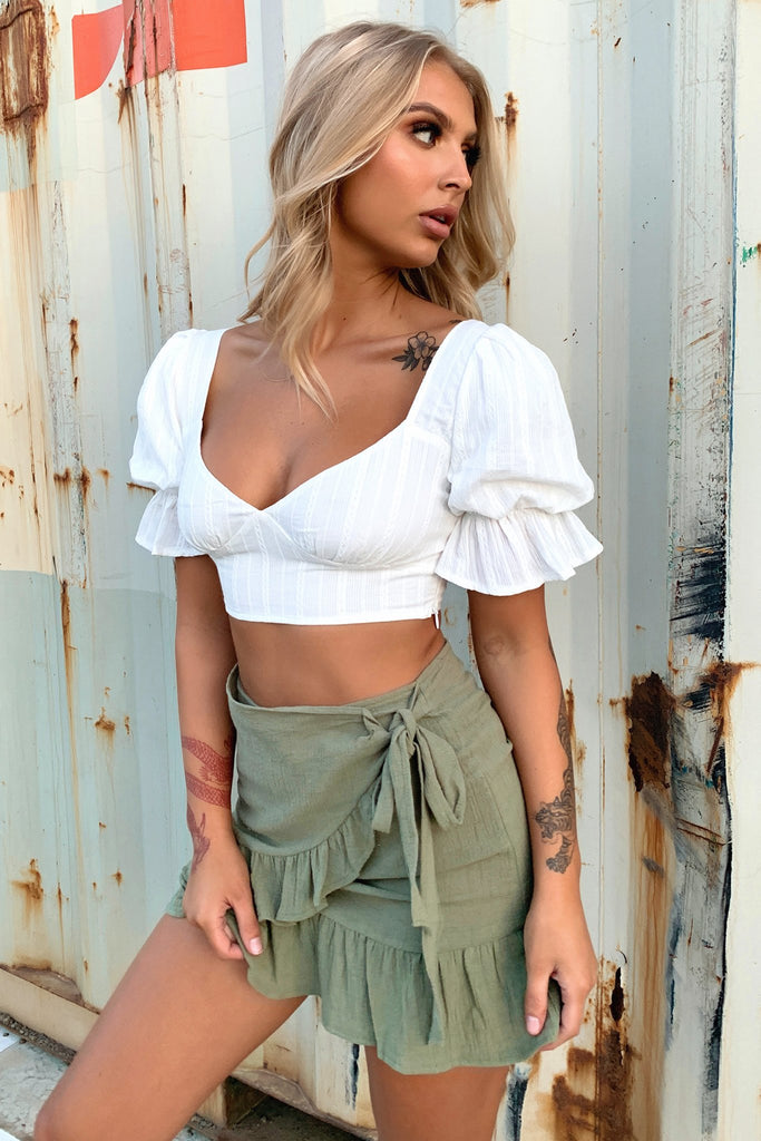 Luz Crop - White