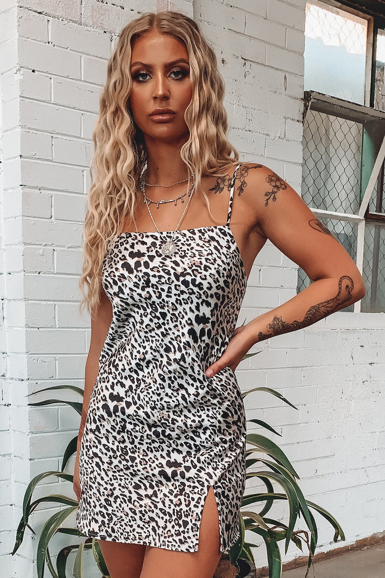 Zara Dress - Silk Leopard