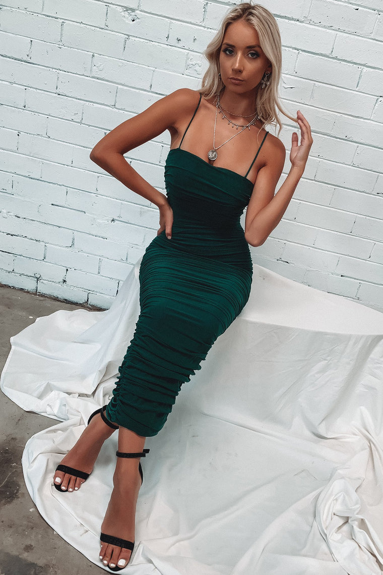 Zena Full Length Dress - Emerald