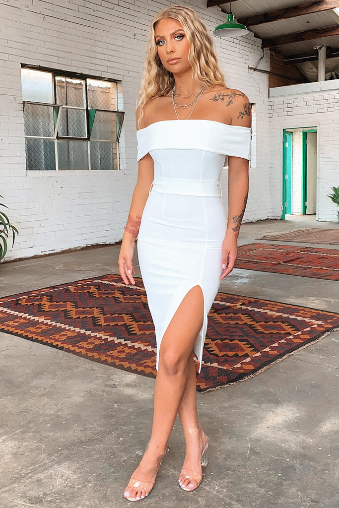 Jaqlin Dress - White