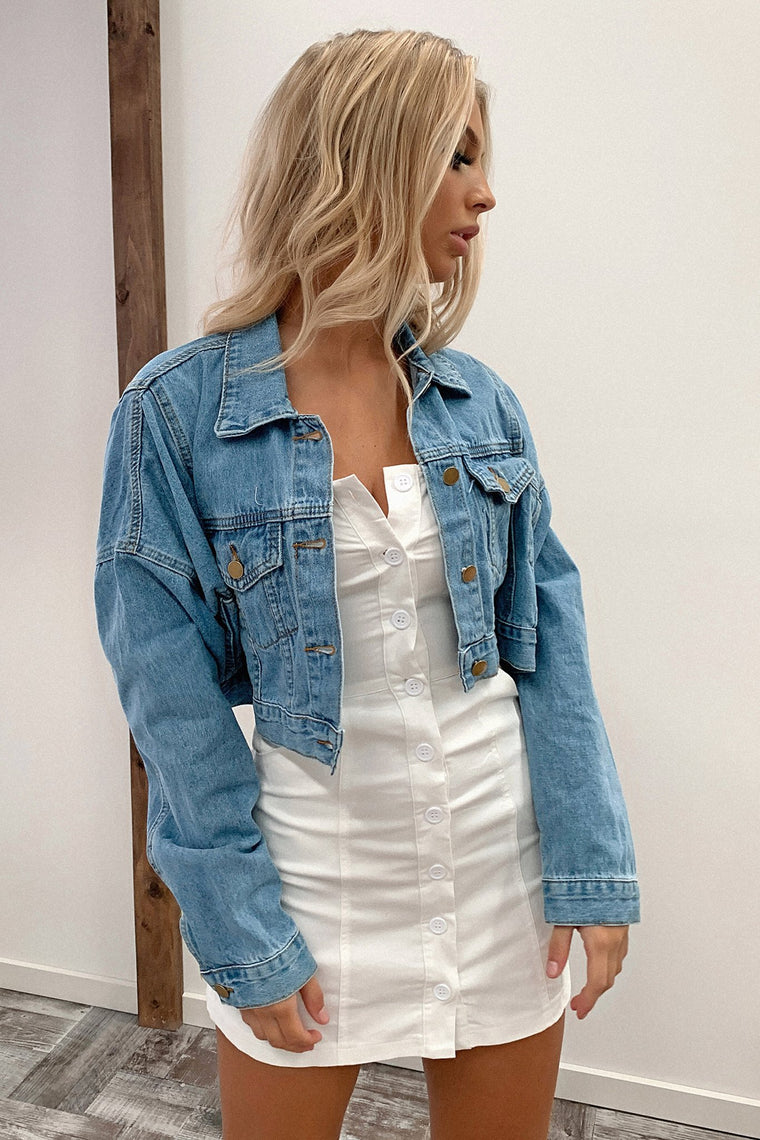 King Cropped Denim Jacket