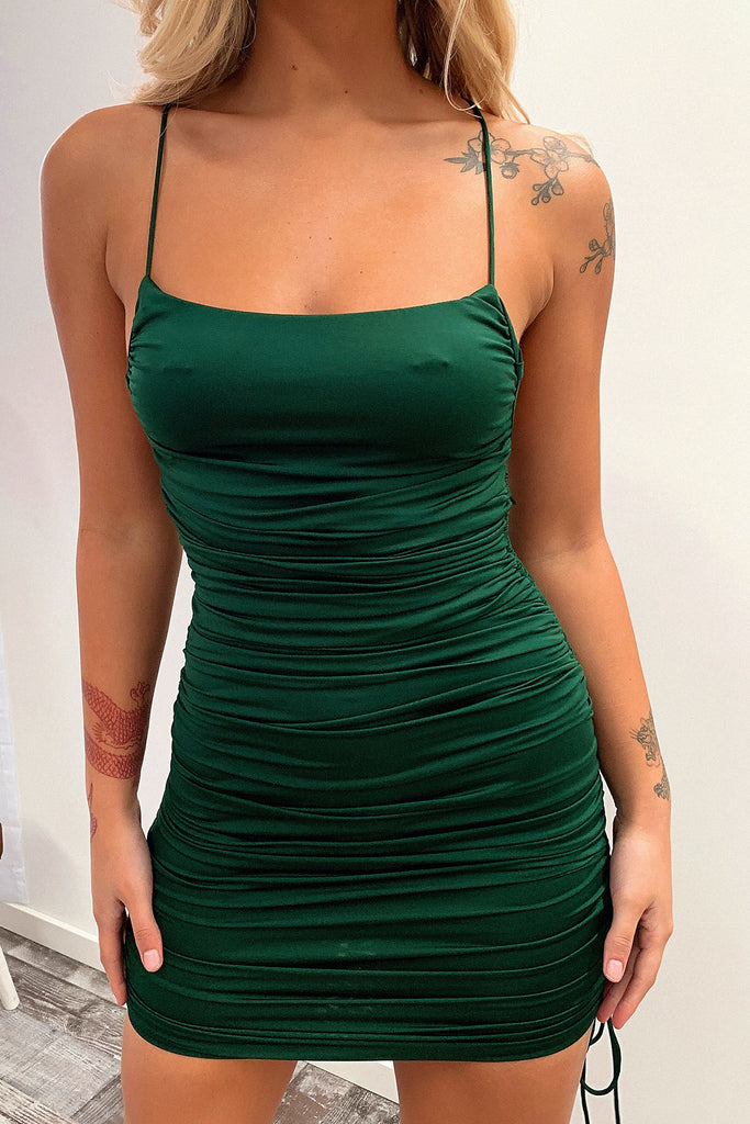 Lock Down Dress - Emerald