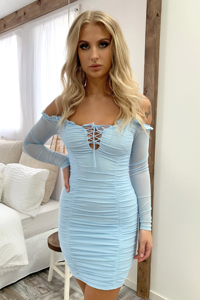 Malone Dress - Baby Blue