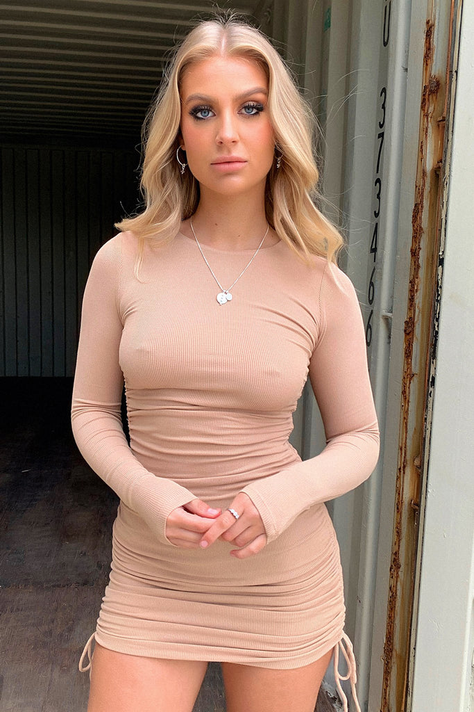 Miller Long Sleeve Dress - Tan