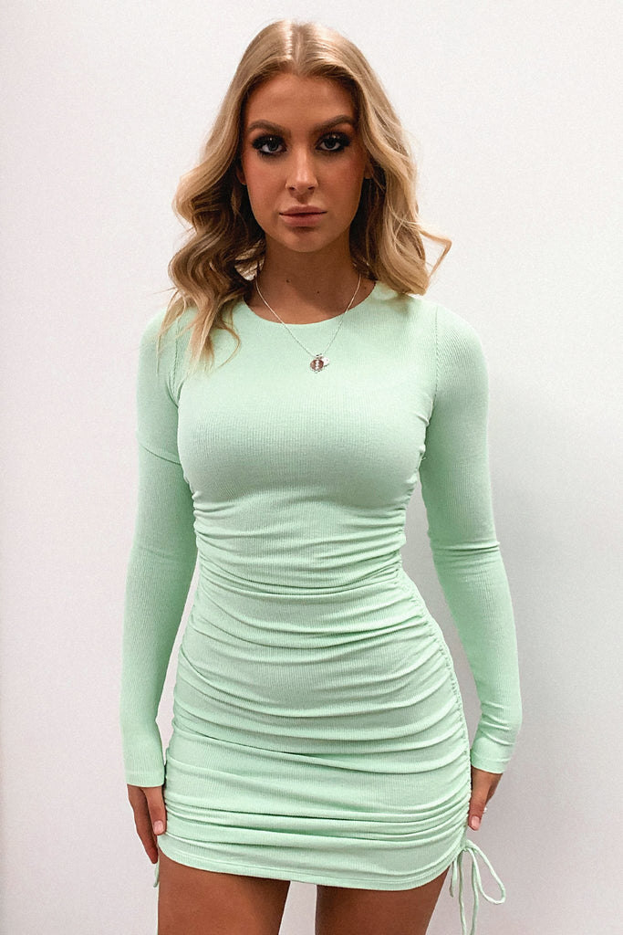 Miller Long Sleeve Dress - Light Green