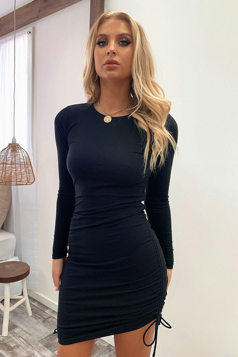 Miller Long Sleeve Dress - Black