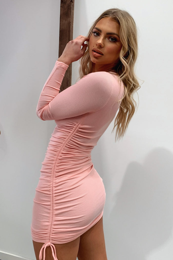 Miller Long Sleeve Dress - Pink