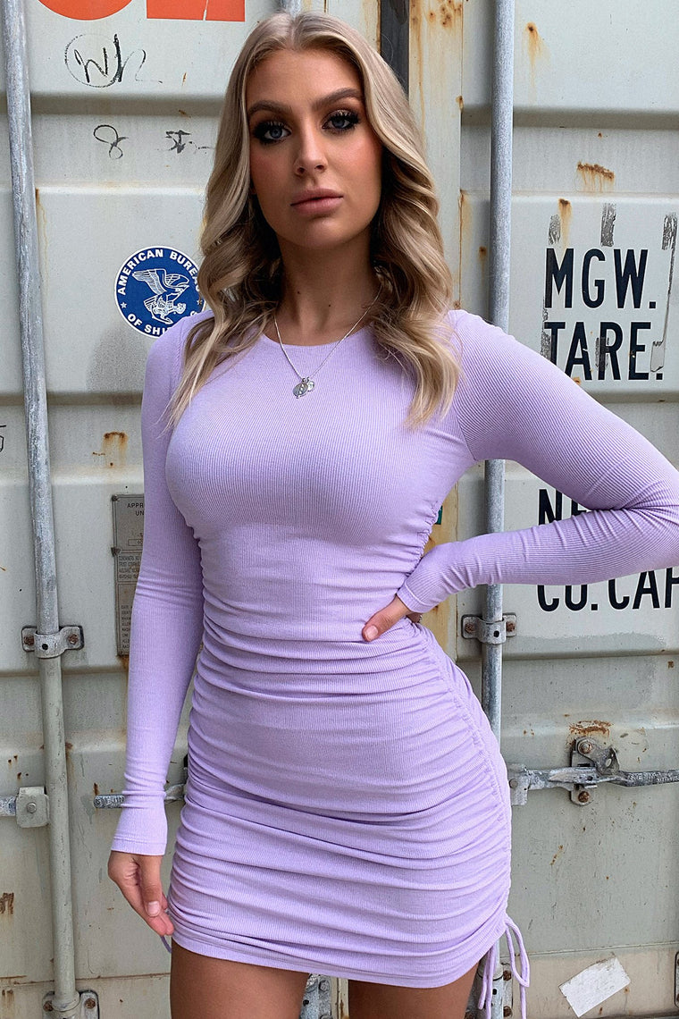 Miller Long Sleeve Dress - Purple