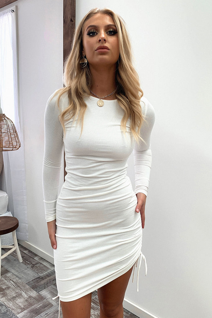 Miller Long Sleeve Dress - White