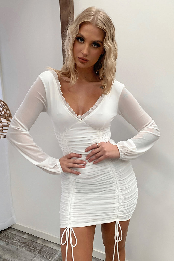 Zachary Dress - White