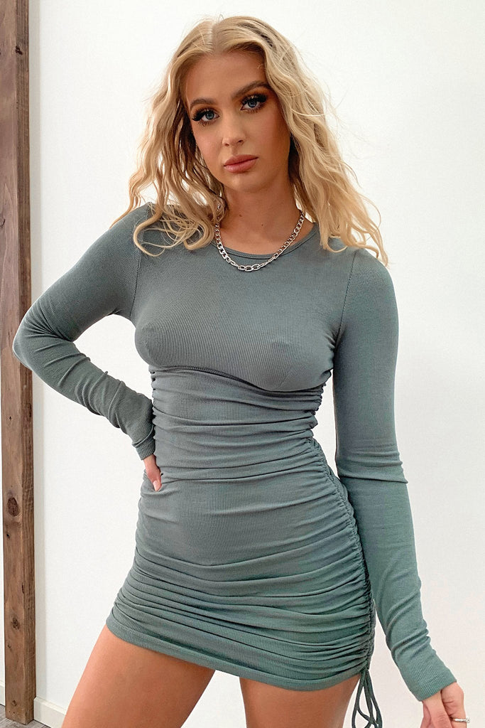 Skylah Dress - Khaki